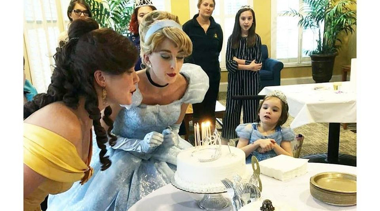 Cinderella and Beauty Princess Birthday Party