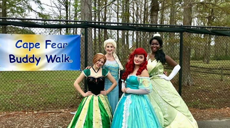 Cape Fear Buddy Walk with the Princesses