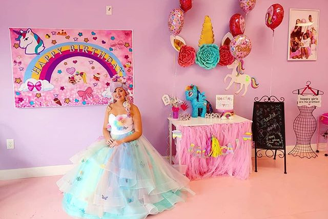 Unicorn Princess at Spa Diva Girls Parties