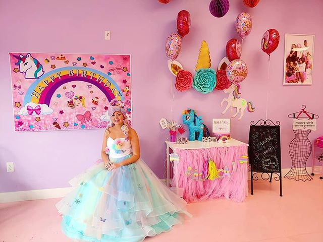 Unicorn Princess at Spa Diva Girls Parties
