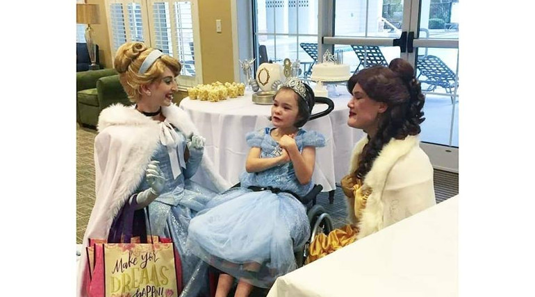Beauty Princess and Cinderella Birthday