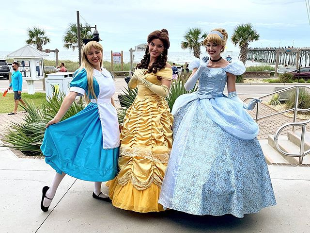 Alice, Beauty, and Cinderella at Princes
