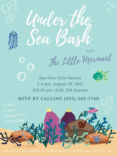 Under The Sea Event Flyer