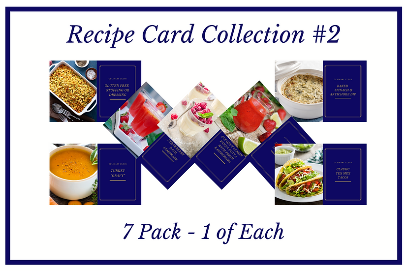 NEW Recipe Card Collection #2 - 7 Pack (1 of Each)