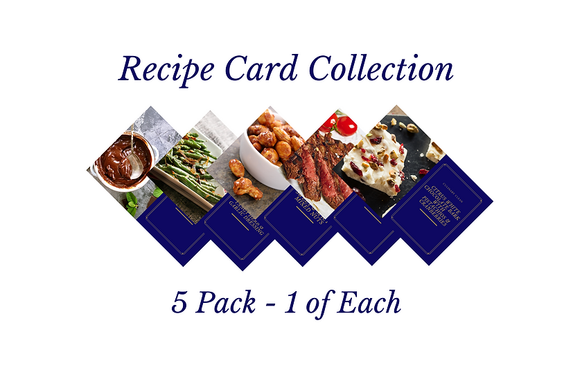 Recipe Card Collection #1 - 5 Pack (1 of Each)