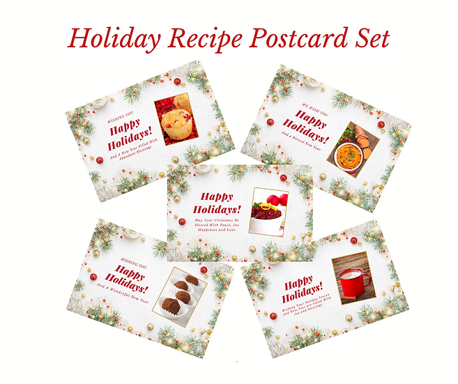 Holiday Recipe Postcard Sets - Set of 5