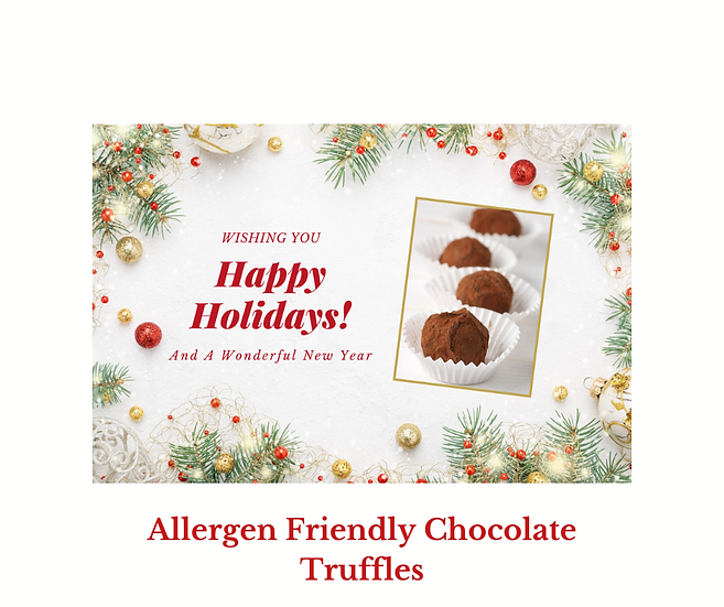 Allergen Friendly Dark Chocolate Truffles