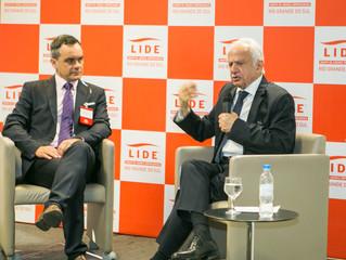 Pedro Simon, fala sobre ética para filiados do LIDE RS