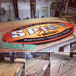 I enjoyed making this one. Customer wanted to replace an old worn out cedar sign, this sign was made