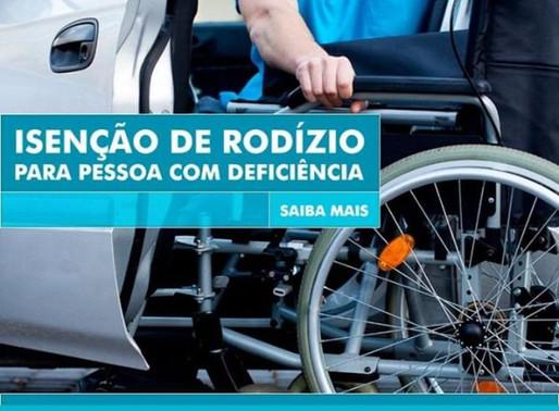 Isenção de Rodízio Municipal (SP) para Portadores de Necessidades Especiais