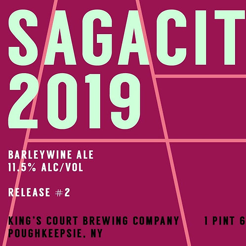 Sagacity 2019 - Barleywine Ale - 11.5% (22 oz wax dipped bottles)