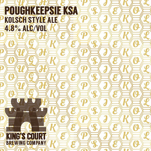 Poughkeepsie Kolsch - Kolsch - 4.8% (4Pack / 16oz cans)