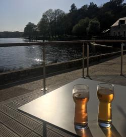 Sundowner by the lake