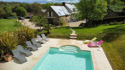 Areal shot of pool