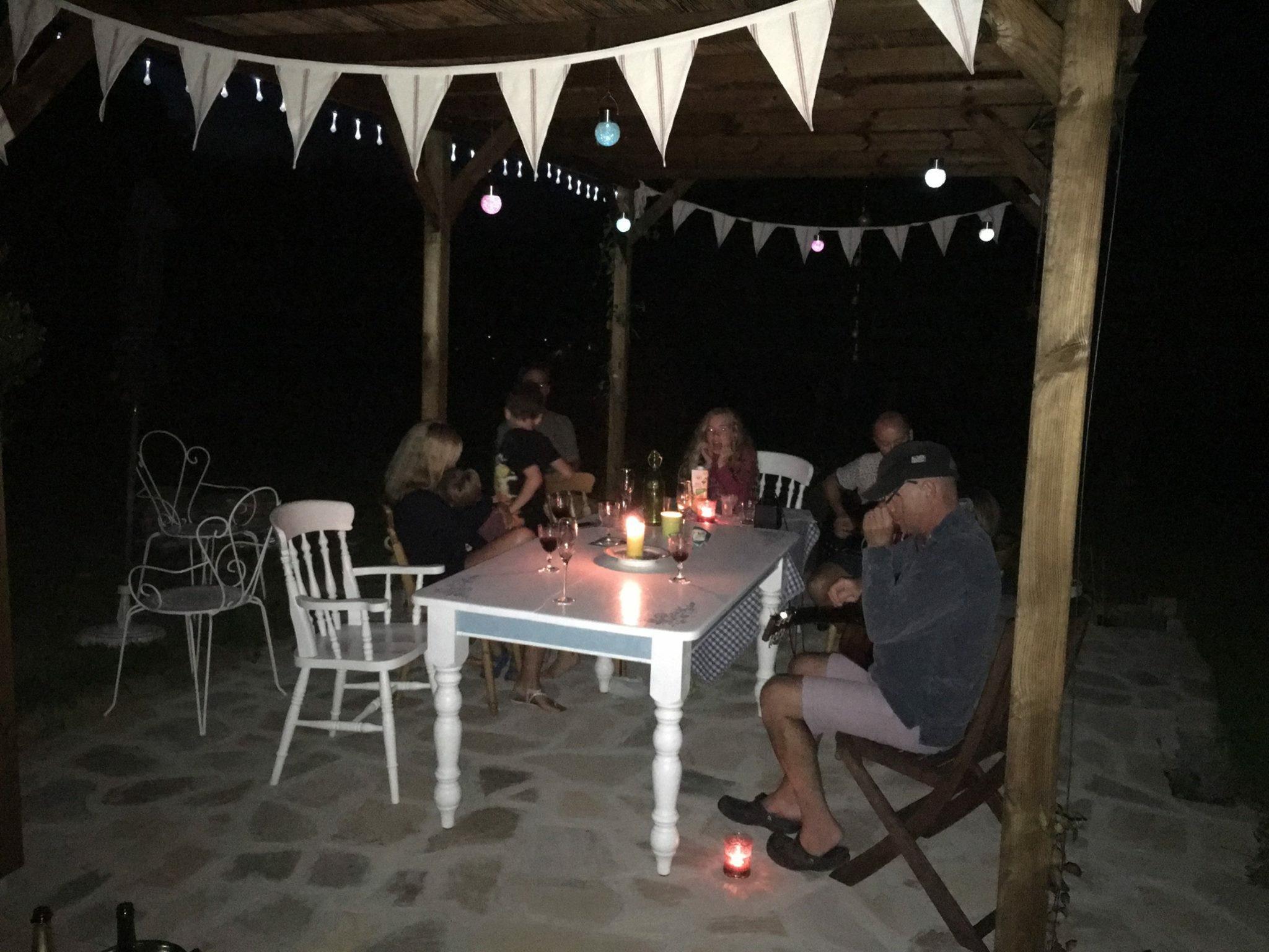 BBQ under the pergola