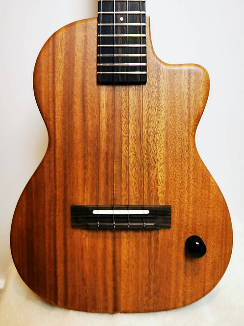 Pono TE Acacia Chambered Body Electric Ukulele