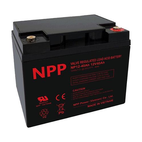 12V/40Ah AGM Valve Regulated Lead Acid Battery