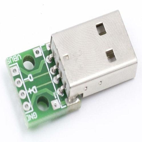 USB Male to 4-Pin 2.54mm DIP Adaptor Board