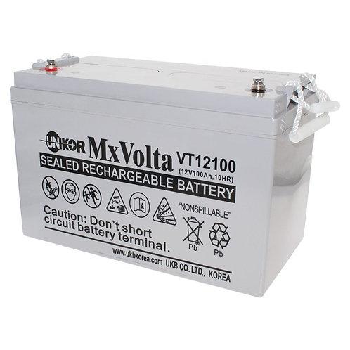 12V/100Ah VRLA Battery (329L X 172W X 215H mm Insert Terminal M6)