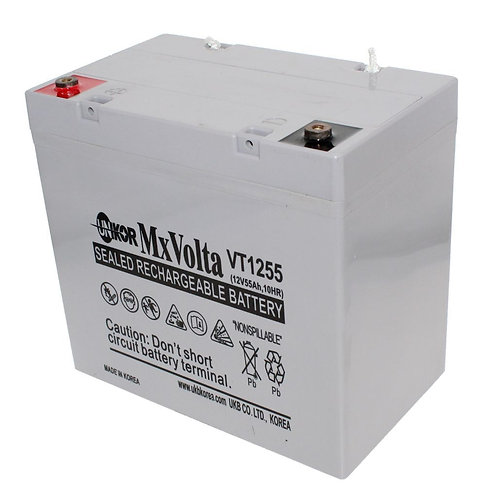 12V/55Ah VRLA Battery (227L X 138W X 206H mm Lead Terminal)