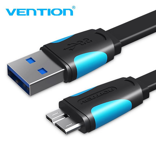 Flat USB 3.0 A Male to Micro B Male Cable