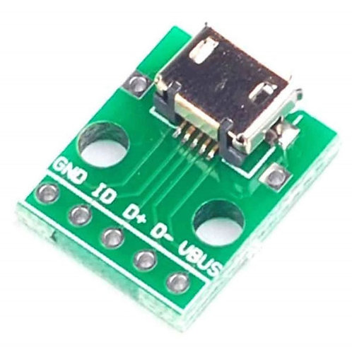 Micro USB Female to 5-Pin 2.54mm DIP Adaptor Board