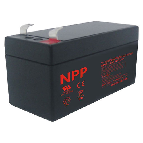 12V/1.2Ah AGM Valve Regulated Lead Acid Battery