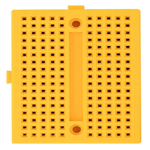 170pts Mini Breadboard SYB-170 Yellow with Connect