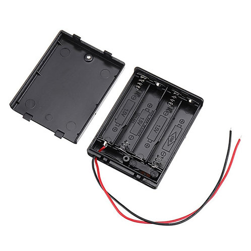 4xAAA Battery Holder Box (On-Off Switch, Cover)