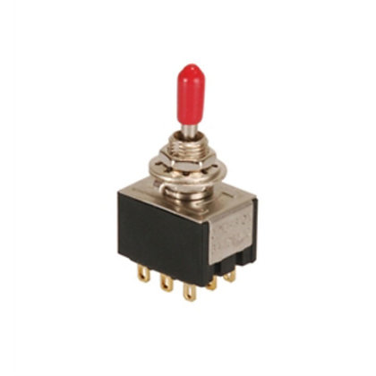 9P 3PDT Miniature Toggle Switch (ON-OFF-ON)