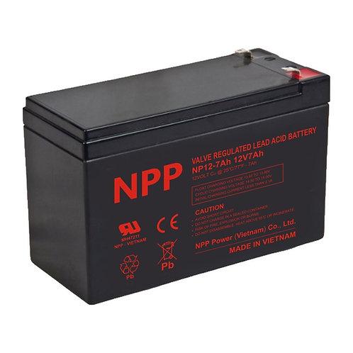 12V/7Ah AGM Valve Regulated Lead Acid Battery