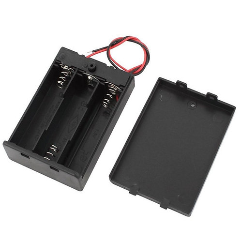 3xAA Battery Holder Box (On-Off Switch, Cover)