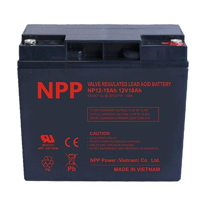 12V/18Ah AGM Valve Regulated Lead Acid Battery