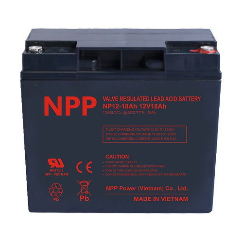 12V/18Ah AGM Valve Regulated Lead Acid Battery