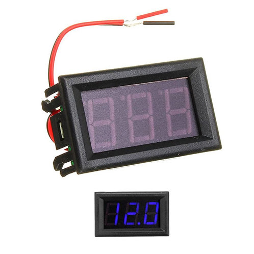 0.56inch 0-30V Three Wire DC Voltmeter Blue