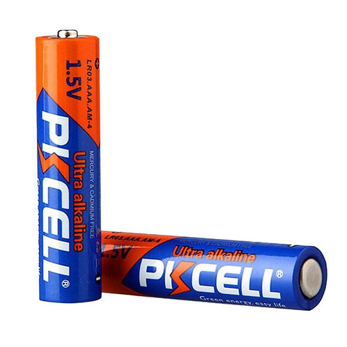 PKCell 1.5V AAA/LR03 Ultra Digital Alkaline Battery (2PCS/Shrink)