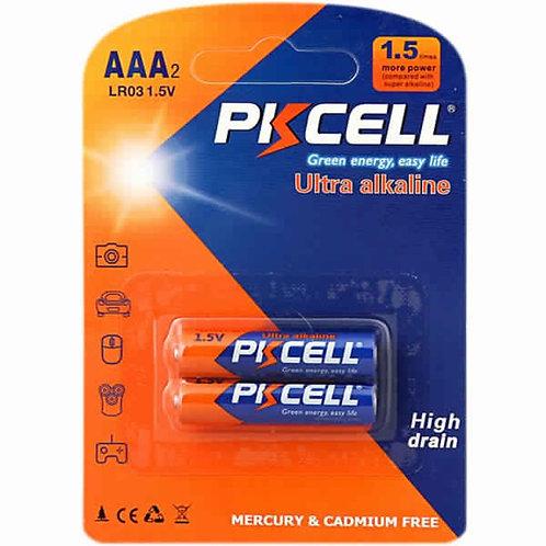 PKCell 1.5V AAA/LR03 Ultra Digital Alkaline Battery (2PCS/Card)
