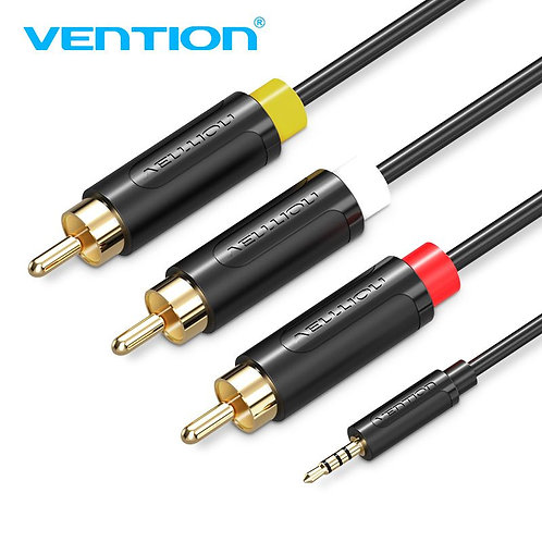 3.5mm to Triple RCA AV Cable