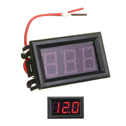 0.56inch 0-30V Three Wire DC Voltmeter Red