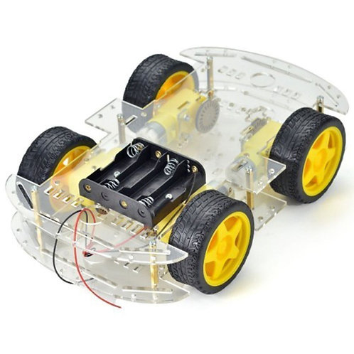 4WD Double Layer Smart Car Chassis
