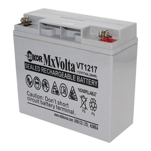 12V/17Ah VRLA Battery (181L X 77W X 167H mm F3 Flange Terminal)