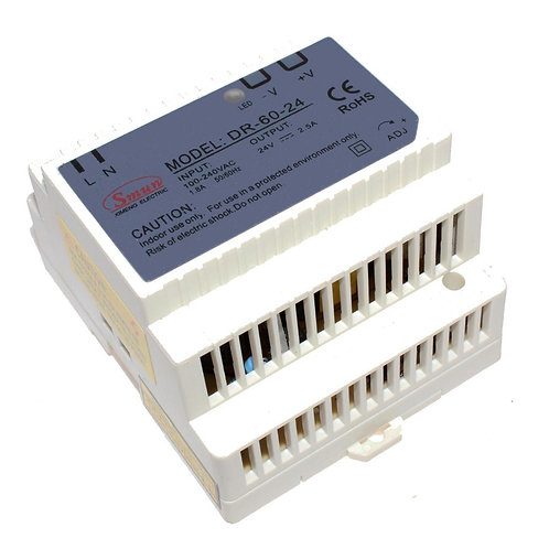 60W Single Group Rail Type (24V 0-2.5A) Switching Mode Power Syupply