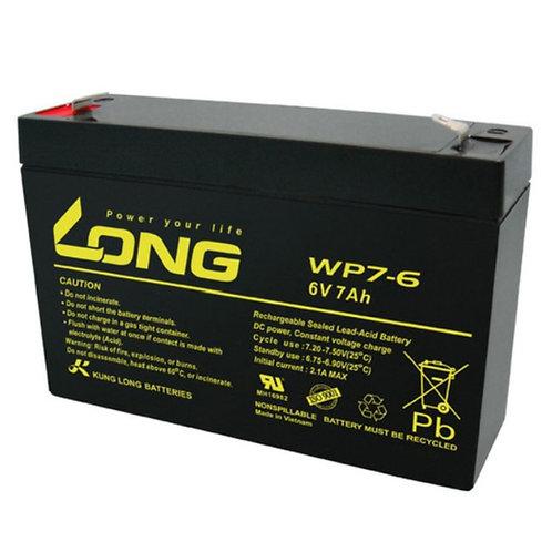 6V/7Ah VRLA Battery (151L X 34W X 94H mm, F1 Terminal)