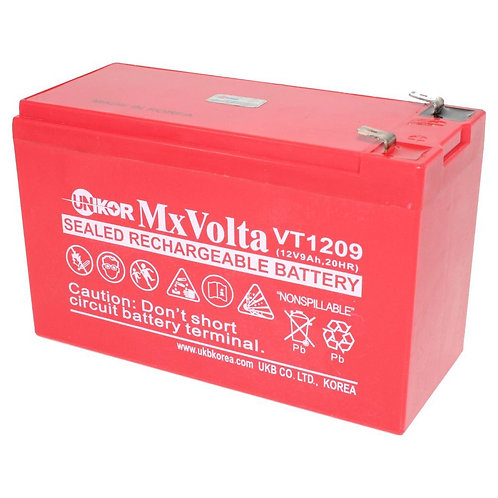 12V/9Ah VRLA Battery (151L X 65W X 93H mm F2 Terminal)