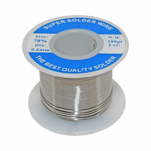 Highly-Efficient Solder Wire (Sn70/Pb30 0.6mm 100gr)