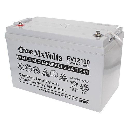 12V/100Ah VRLA Deep Cycle Battery (331L X 173W X 217H mm Insert Terminal M6)