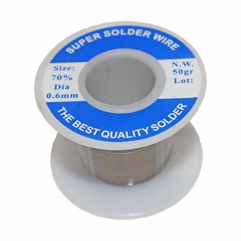 Highly-Efficient Solder Wire (Sn70/Pb30 0.6mm 50gr)