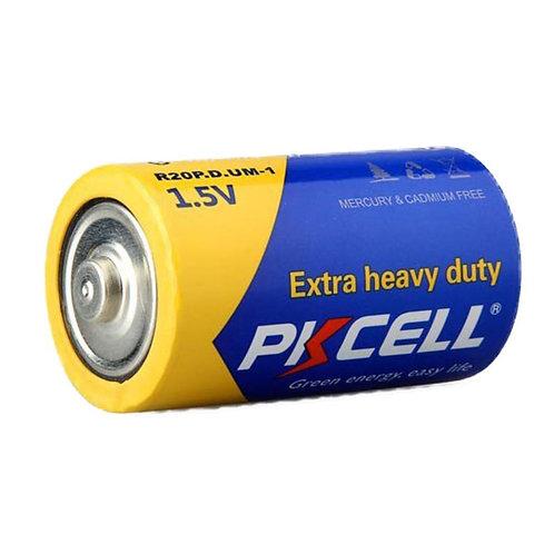PKCell 1.5V D/R20P Extra Heavy Duty Battery (2PCS/Shrink)