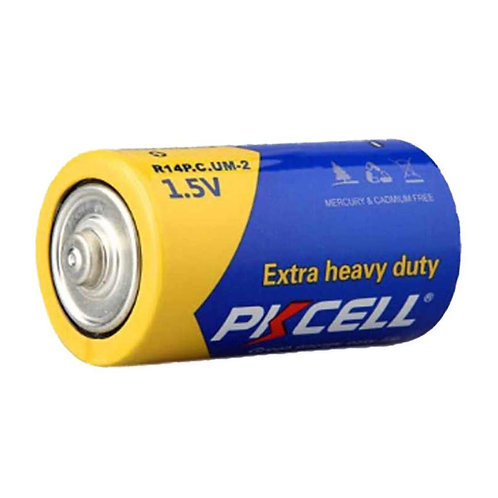 PKCell 1.5V C/R14P Extra Heavy Duty Battery (2PCS/Shrink)