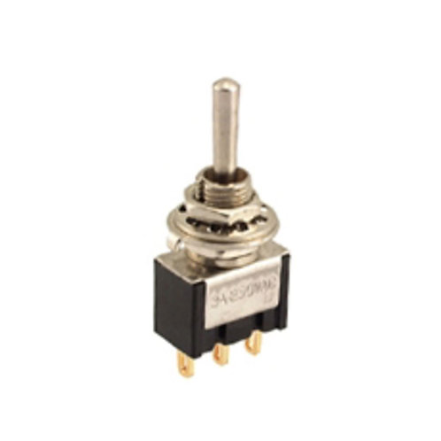 3P SPDT Miniature Toggle Switch (ON-OFF-ON)